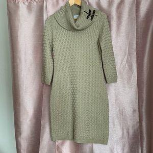 Tan sweater dress cowl neck by Calvin Klein NWOT M
